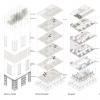 Urban Arboretum-Commune Series of Exploded Isometric Diagrams