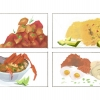 These illustrations are part of my Capstone Paper. The paper was supposed to describe my personal journey in exploring what food means to my family. The capstone was organized in chapters, and each chapter described a family member's favorite foods. This image shows four pieces.