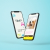 An app dedicated to matching rescue dogs with those looking to adopt or foster. It uses an algorithm to match your experience with the dogs' needs. Rescue Dog Adopt Foster Figma CMYK Illustration Matchmaking Spot Photoshop Cuba Oaks Graphic Design Los Angeles Two Faced