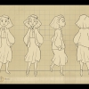 """Character turn-around for Grace, a ghost character from my thesis project """"Spirit Box""""."""