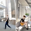 Interior renderings of the common spaces in the CO-LIFE apartment building