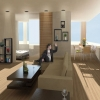 Studio 4: Interior Architecture - Santee Alley Housing, Interior View