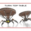 The Turn Top Table is the cool steampunk robot table that will move wherever you want it to