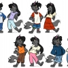 My one of my favorite parts of character designing is finding which hair and out will fit the character's description.
