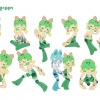 Honeygreen Character Poses