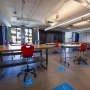 Spaced out desks in Anne Cole Building