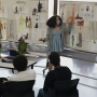 A student during final presentations at Summer of Style at Otis College.