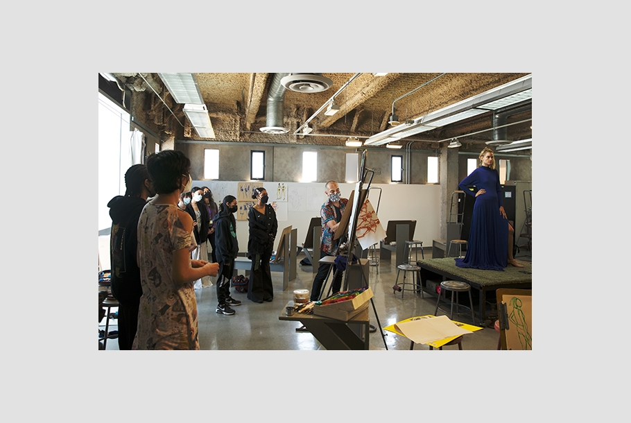 Summer of Style students learn fashion sketching at Otis College.