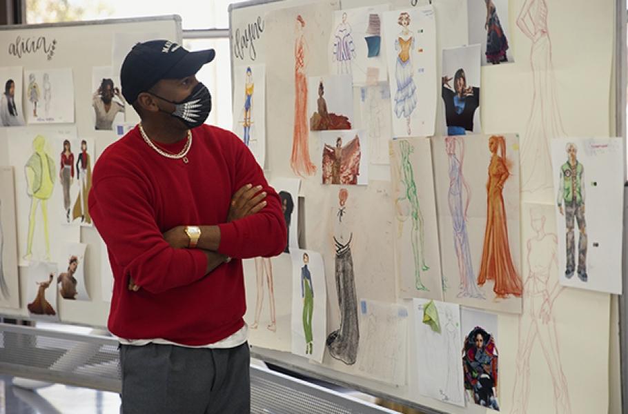 Jason Bolden reviews Summer of Style student work at Otis College.