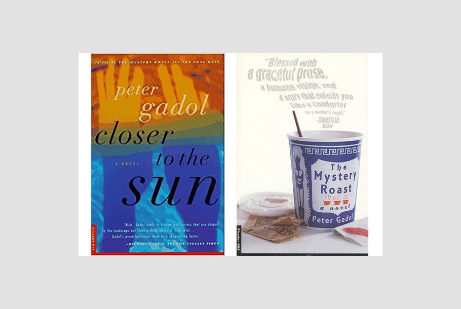 images of book covers of Closer to the Sun and Mystery Roast by Peter Gadol