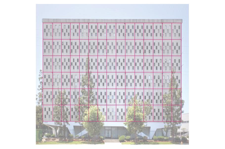 ahmanson building with grid